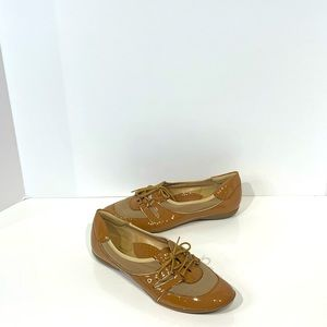 Sesto Meucci  Patent leather and mesh shoes